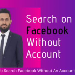 How To Search on Facebook Without An Account